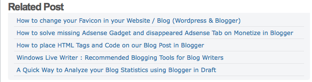 How to Create Related Post below your Single Post in Blogger