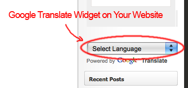 google translate website