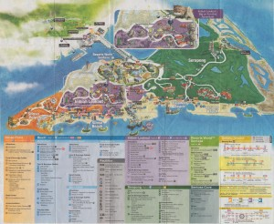 Sentosa Island Guide Map