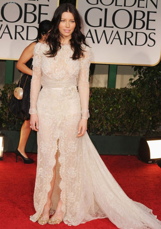 golden globe 2012 Jessica Beil1 Golden Globe Awards 2012 Best Celebrity Dresses