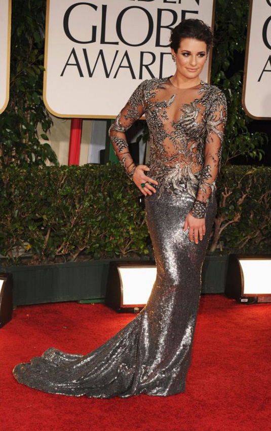 golden globe 2012 Lea Michele1 Golden Globe Awards 2012 Best Celebrity Dresses