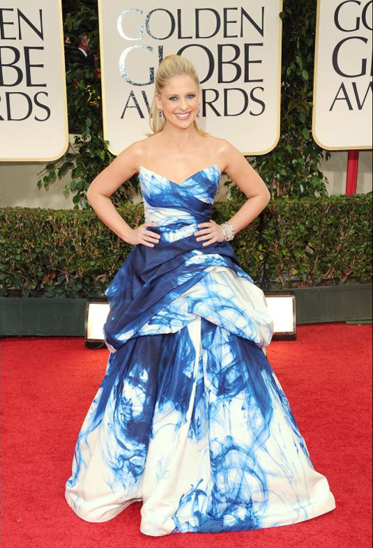 golden globe 2012 Sarah Michelle Gellar1 Golden Globe Awards 2012 Best Celebrity Dresses
