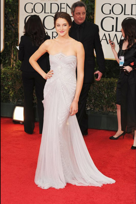 golden globe 2012 Shailene Woodley1 Golden Globe Awards 2012 Best Celebrity Dresses