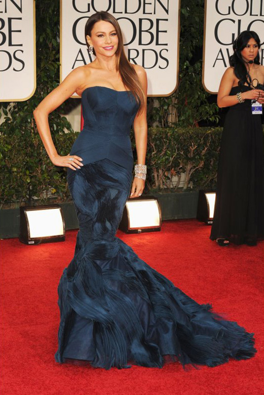 golden globe 2012 Sofia Vergara1 Golden Globe Awards 2012 Best Celebrity Dresses
