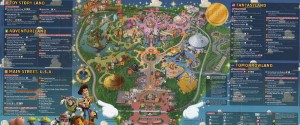 hongkong disneyland guidemap
