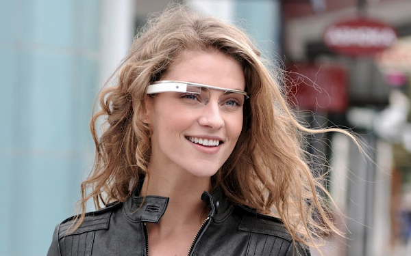 emily wearing google glass