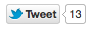 small counter twitter button