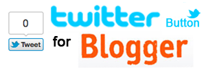 twitter button for blogger
