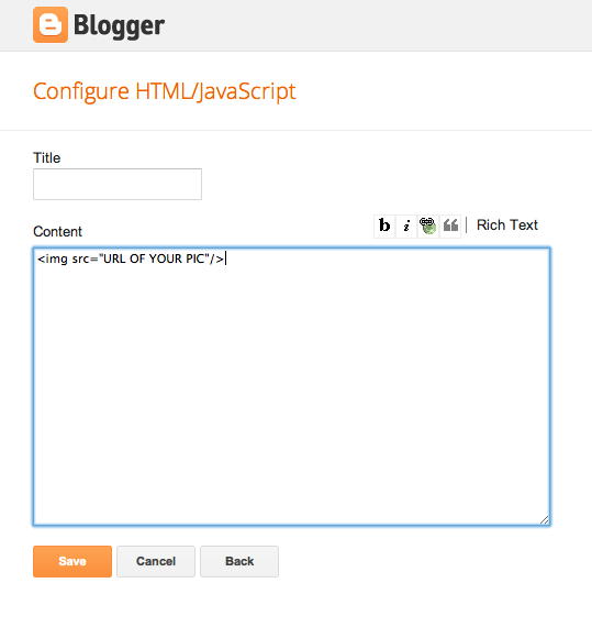 blogger sidebar customize