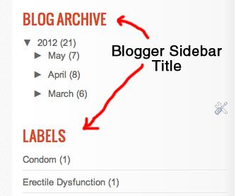 blogger sidebar title