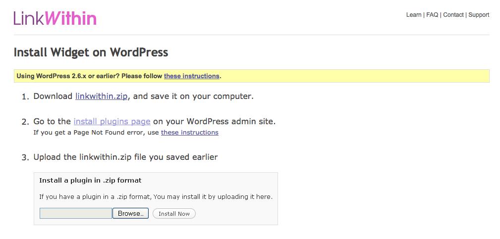 linkwithin wordpress
