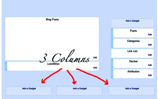 blogger footer 3 columns