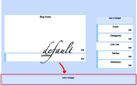 blogger footer default