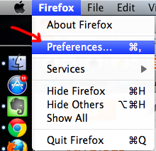 firefox preferences in mac os x How to Access Blocked Website using Firefox / Chrome in Mac / Windows