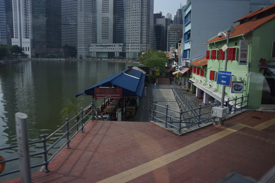 Boat Quay from Bus