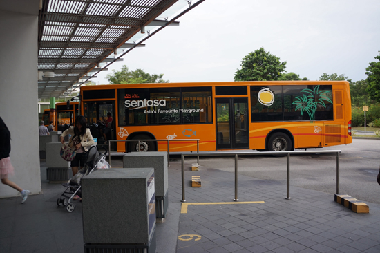 Free Bus in Sentosa Island
