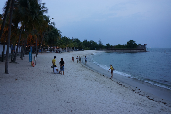 Siloso Beach in Sentosa Island