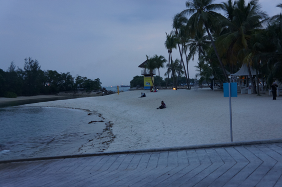 Siloso Beach in Sentosa