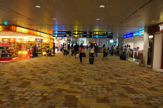 arrived at singapore changi international airport