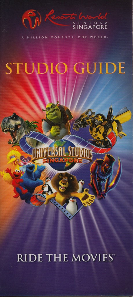 Universal Studio Guide Map 2012