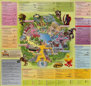 Universal Studio Singapore Guide Map 2012