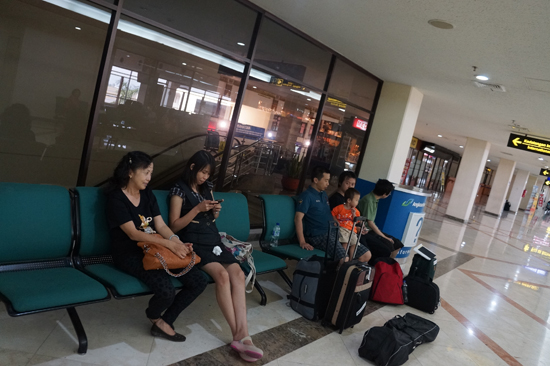 waiting at juanda airport surabaya