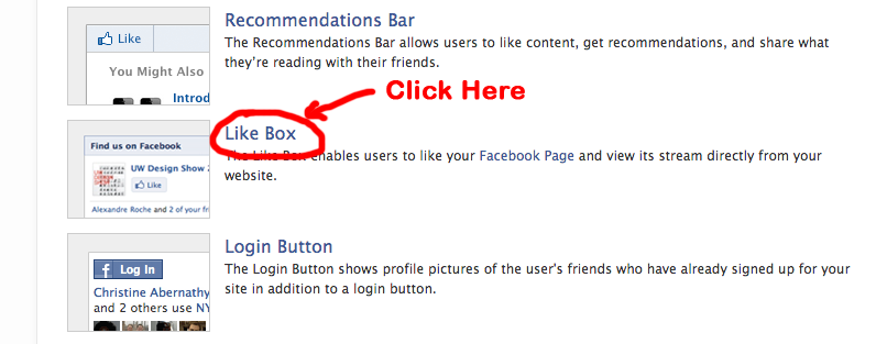 Create Facebook Like Box