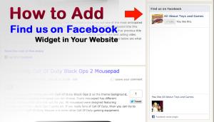 Find Us On Facebook Widget