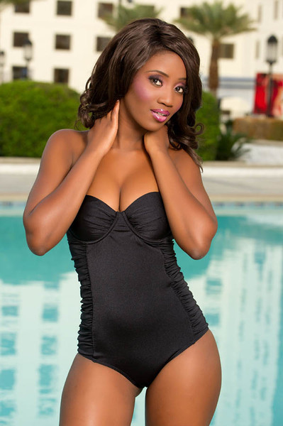 Miss Botswana Sheillah Molelekwa Miss Universe 2012 Swimsuit Photo (89 Contestants)