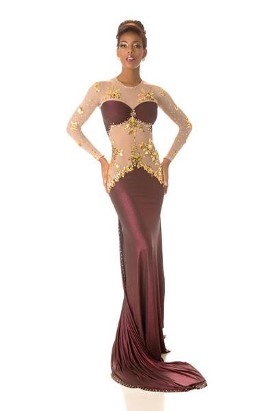 Monifa Jansen – Miss Curacao Gown