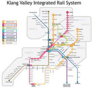 Kuala Lumpur LRT and Monorail Map