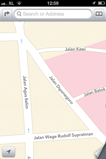 apple maps in batu