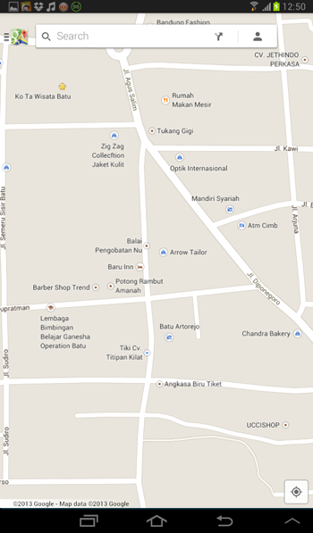 google maps in batu