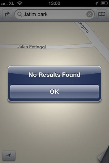 search features in apple maps