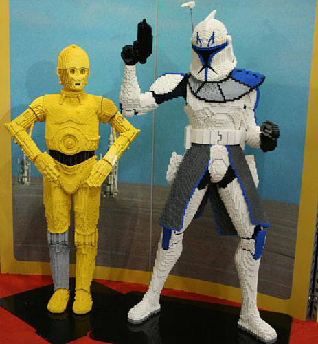 Lego C-3PO and Trooper