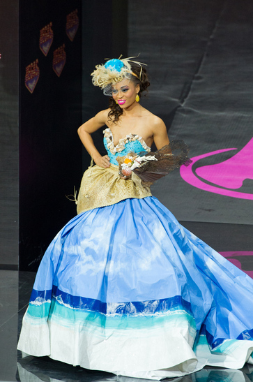 National Costume miss turks and caios 2013